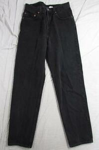 Levi-550-Relaxed-Fit-Black-Denim-Jeans-Tag-Size-33x34-Measure-31x33-5