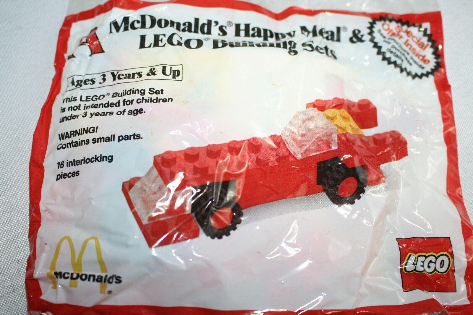Vintage 1986 McDonald/'s Happy Meal LEGO Building Sets Race Car Brand New Rare!