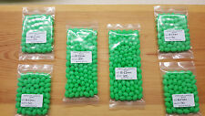 100 x 12mm-8mm Ex/Large Oval Green Lumi Fishing Beads.Biggest listed on Ebay.
