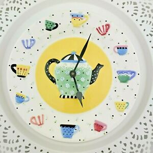 1989-Mary-Engelbreit-Wall-Clock-Battery-Porcelain-Plate-Teapot-Tea-Cups