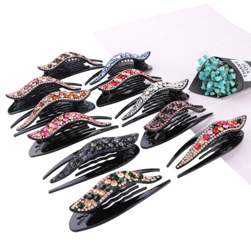 Crystal Women Rhinestone Barrette Hair Clips Clamp Hairpin Hair Pin Accessories
