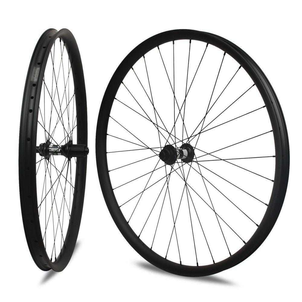29er carbon mountain bike wheels MTB wheel 35mm width thru axle dt swiss 350s