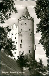 Ansichtskarte Lauingen (Donau) Partie am Schloßturm Turm Gebäude 1965