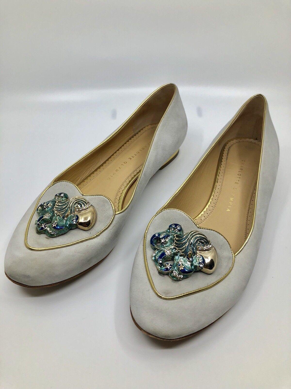 Charlotte Olympia Aquarius in  Pelle Scamosciata 41 Pantofole Donna  in  052090