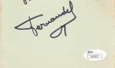 Spirited Fernandel D.1971 Signed Album Page Actor/paris Holiday V65857 Entertainment Memorabilia