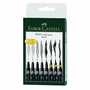 Faber-Castell-167137-Tuschestift-Pitt-Artist-Pen-8er-Kunststoffetui-schwarz