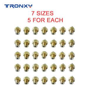 Tronxy MK8 Extruder Nozzle 7Pcs 0.2/0.3/0.4/0.5/0.6/0.8/1.0mm M6 For 3D Printer