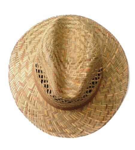 Uomo Cappello Paglia Naturale fino XXL Dritto Krempe Viaggiatore Vacanza Garten