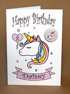 Handmade Personalised Birthday Card Any Name /& Age