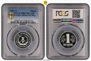 GDR 1 Mark 1983 A Superb High Grade Proof Only 2550 Ex. PCGS PR67DCAM