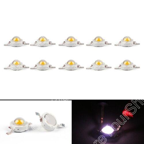 1W LED Beads Lamp Diodes High Power Chip Whi Red Grn Blu Org Yel RGB  UA