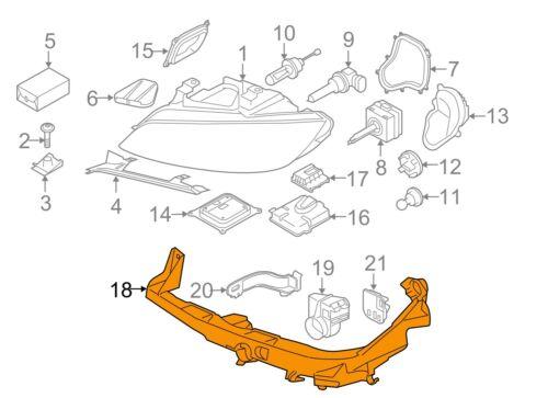 10//03-13 O//S RIGHT HEADLIGHT BRACKET ARM 7227926 BMW NEW GENUINE 3 E92 E93