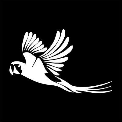 Bird Daddy Parrot Decal Sticker for Car Window 8 Inch BG 524