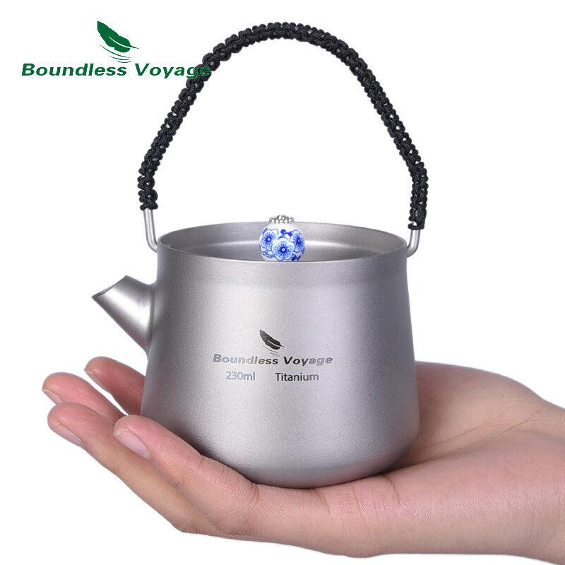 Mini  Titanium Kettle with Filter Anti-scalding Handle Lid Coffee Tea Water Maker  order online