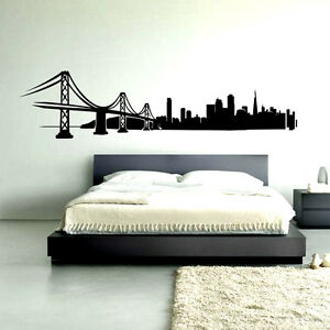 Image is loading San-Francisco-Skyline-Wall-Decal-sticker-vinyl-decor-