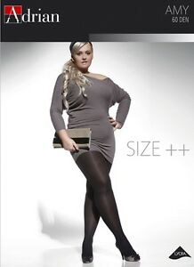 Plus-Size-Microfibre-Semi-Opaque-Tighs-ADRIAN-AMY-60-Denier-Sizes-L-to-XXXXL
