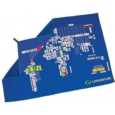 Lifeventure Softfibre Stampato Asciugamano-giant-mondo In Parole-