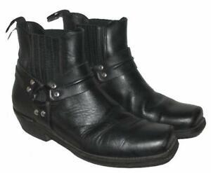 """"""" HIGHWAY 1 """" Herren- Stiefeletten niedrige Biker- Stiefel Boots schwarz Gr. 42"""