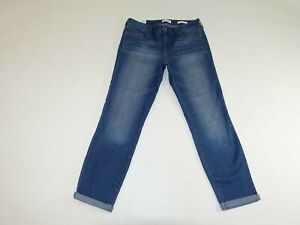 Jessica Simpson Women's Rolled Crop Skinny Jeans Size 8 / 29 NWT Blue Stretch