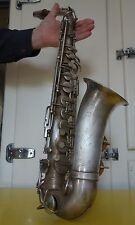 Saxophone Robert DROUET Paris fabricant / Bec SELMER / métal argenté / 1930-40