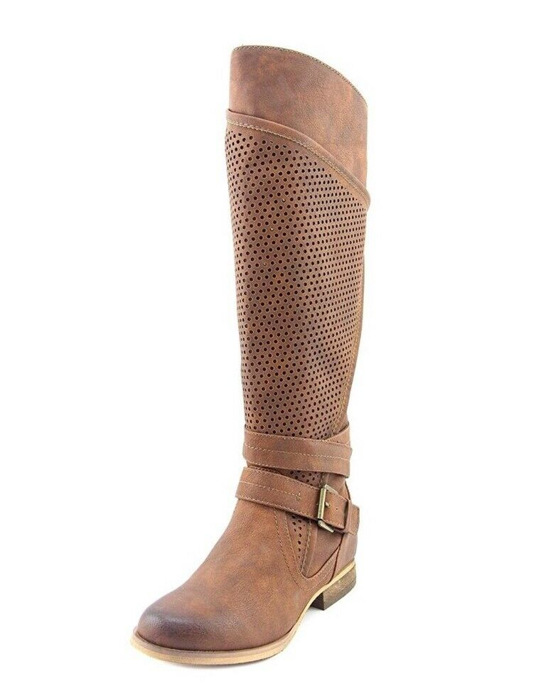 Not Rated Wind Zone Women Cognac Tan Knee High Boots NEW