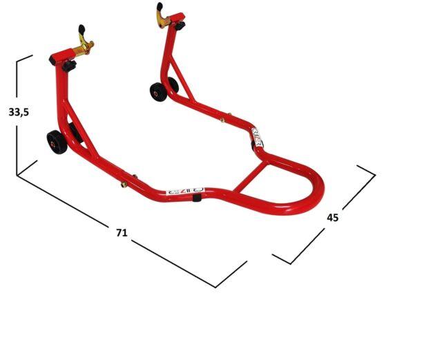 Cavalletti Cavalletto Rosso posteriore per moto con attacchi a forchette