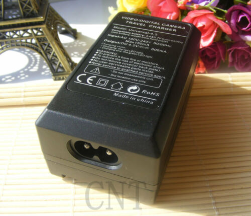 Charger For Casio Z50 EX-P505//P600//P700 PM200 2X NP-40 CNP40 Camera Battery