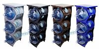 Water Bottle Holder 3 & 5 Gallon Bottle Rack 3 Tier Stand Stack Table Counter