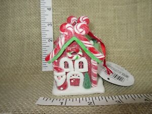 Kurt Adler 1 Set 2 Assorted Gingerbread Glitter Clay Dough Christmas Ornaments