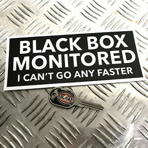 1X-BLACK-BOX-MONITORED-FUNNY-CAR-STICKER-DECAL-YOUNG-DRIVER-BUMPER-VINYL