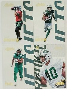 2018-Panini-Absolute-Football-New-York-Jets-Team-Set-with-RC-4-Card-Lot