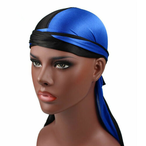 New Design Men Women Turban Hat Pirate Doo Durag Headwear Comfortable Silk Cap