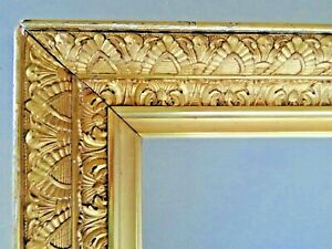 SM-DEEP-ANTIQUE-FITS-6-X-9-GOLD-PICTURE-FRAME-WOOD-GESSO-ORNATE-FINE-ART-COUNTRY