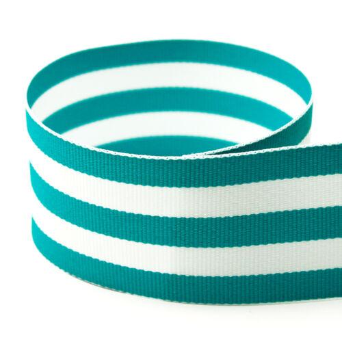 "5 yards  1.5/"" Multiclored Stripes Taffy Woven Grosgrain Ribbon U Pick Color"