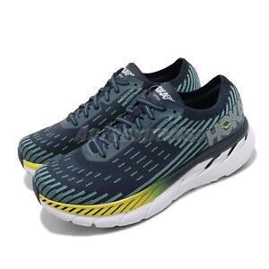 Hoka-One-One-M-Clifton-5-Knit-Black-Iris-Blue-Men-Running-Shoes-1094309-BISB