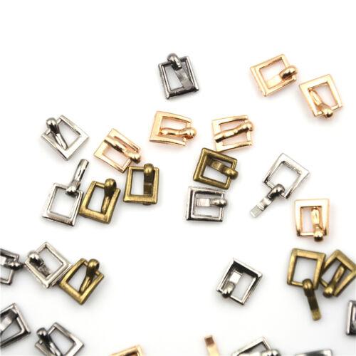 10pcs 4mm Diy buckle shoes accessories mini belt buckle for bjd blyth doll SL