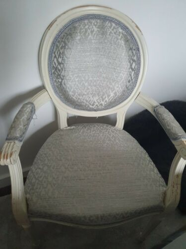 chair dove grey ,cream carver chair dressing table chair bedroom chair