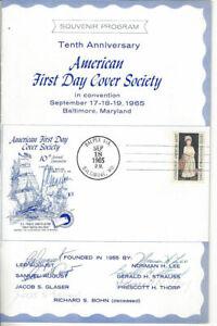 1273-Souvenir-Program-5c-John-Singleton-Copley-w-autographs