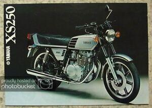 YAMAHA-XS250-MOTORCYCLE-Sales-Brochure-c1978-LIT-3MC-0107143-78E