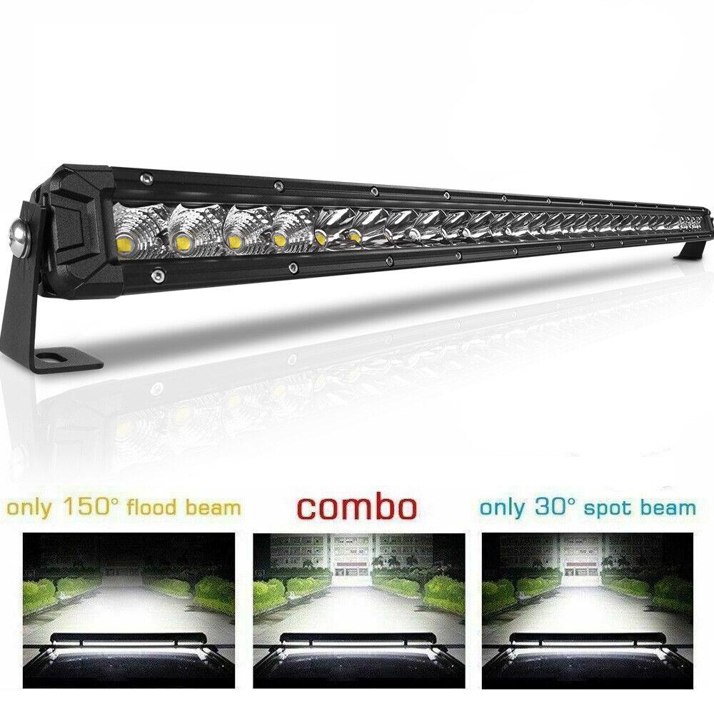 42inch 400W Straight LED Light Bar Flood Spot Combo Off road Truck 4WD SUV UTV