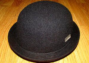 190e507d17f43 Image is loading Black-KANGOL-Wool-Bombin-Hat