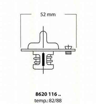 Thermostat Eau TRISCAN MAZDA MX-3 EC 1.6 i 107 CH