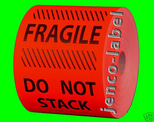 HF4606R, 500 4x6 Fragile Do Not Stack Label/Sticker