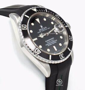 1e921e6fc37 A imagem está carregando Data-de-Rolex -Submariner-16610-Aco-Inoxidavel-Relogio-