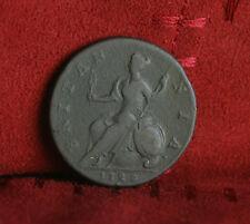 1729 Great Britain 1/2 Penny World Coin Britania Seated UK England RARE