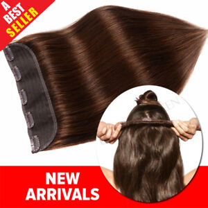 Invisible-Clip-in-Remy-100-Human-Hair-Extensions-3-4Full-Head-One-Piece-US-P948