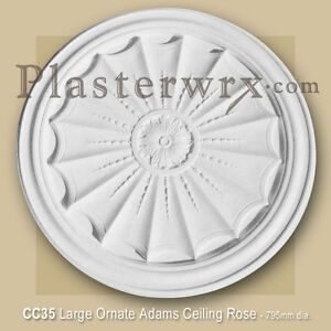 Image Is Loading Ornate Adams Large Plaster Ceiling Rose 795mm Dia