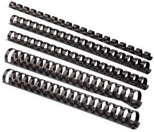 Plastikbinderücken 21 Ringe 19mm schwarz