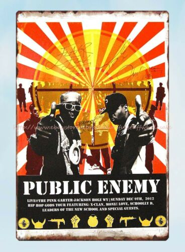 Details about  /decorating tips PUBLIC ENEMY music band metal tin sign