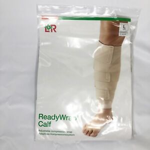 L&R ReadyWrap Calf Beige Large Compression Wrap with Liner - LARGE
